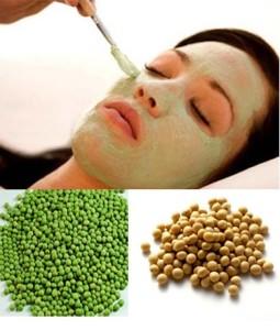 Cách làm trắng da mặt tự nhiên với đậu xanh và đậu nành