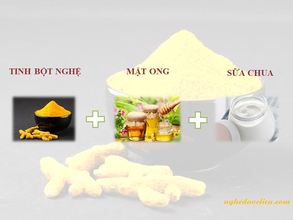 Dùng tinh bột nghệ đắp mặt chăm sóc da khô hiệu quả