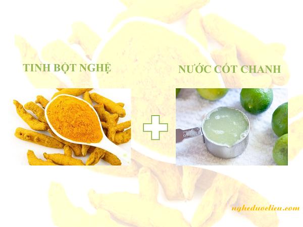Dùng tinh bột nghệ đắp mặt với sữa chua và chanh giúp chăm sóc da khô an toàn